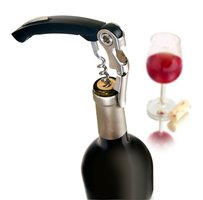 Vacuvin Kurkentrekker (double hinged corkscrew black)
