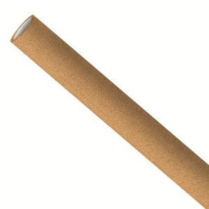 Bruine papieren rietjes