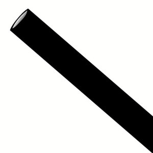 Zwarte papieren rietjes